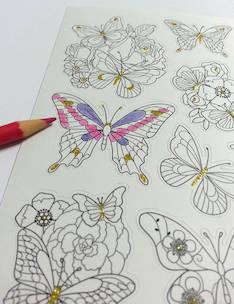 Väritystarra perhoset - Tarrat ja tarrakirjat - 146519 - 1